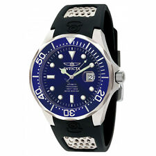 Invicta 11752 Men's Grand Diver Automatic Blue Dial Black Rubber Strap Watch