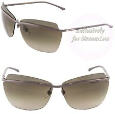 Yves Saint Laurent Cat Eye Rimless Sunglasses Purple Brown YSL 6331/S EHNHA