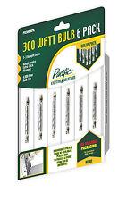 Pacific Lighting Solutions PB300-6PK 300 Watt Halogen T-3 Light Bulb, 6-Pack