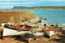 THE HARBOUR & FAIR HEAD BALLYCASTLE CO. ANTRIM IRELAND BAMFORTH IRISH POSTCARD