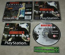 Resident Evil 3 Nemesis - Playstation One Game PS1 PS2 PS3 - PAL complete black