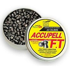 WEBLEY accupell FT Air Rifle PELLETS.22 TIN 500 14.66 Chicco HEAD SIZE 5.53