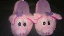 Piggy head girl's size 11-12 slippers