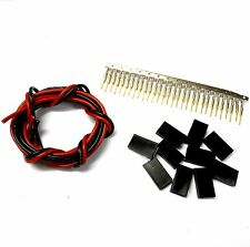 CL8F10 JR Female Gold Plated Set x 10 1m 18AWG Black Red Battery Repair 6v