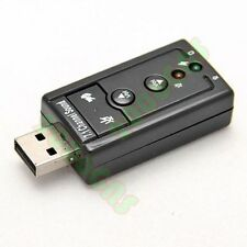 USB 2.0 to 3D Virtual Audio Sound Card Adapter Converter 7.1 CH Mic Speaker
