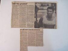 Louisville Courier Journal 1985.* Rare Muhammad Ali 1984 Olympics Photo & Story!
