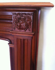 Reclaimed Antique Victorian Style Mahogany Wooden Fireplace Surround (PK122)