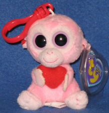 TY JULEP the MONKEY KEY CLIP - BEANIE BOOS - MINT with SLIGHT CREASE on TAG