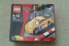 Disney Pixar Lego Cars 9481 Jeff Gorvette & Notebook-Paquete