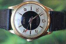 GREAT VERY BIG THICKLY GOLD-PLATED SWISS DELBANA WATCH 17 JEWELS!