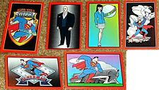 SUPERMAN FIGURE STICKER SET SKYBOX FLEER 1996 RARE NM PROMO LEX LUTHOR LOIS LANE