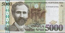 Armenia 5000  Dram  2012  P 56  Circulated Banknote