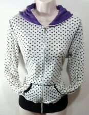 Wet Seal Jr's Woman's Large RETRO Polka Dot Zip-Up Hoddie Jacket