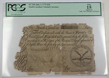 1775 20 Pounds South Carolina Colonial Currency Sc-100 Pcgs F-15 Apparent (A)