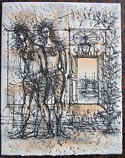 CARZOU.Lithographie signée et numerotée  85/500. Carte de vœux 1968 . Dimensions