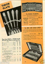 1939 PAPER AD Tudor Plate Silverware Royal York Elaine Madelon June Pattern