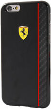 "Genuine Ferrari Scuderia Carbon Plate Hard Case for iPhone 6 6s 4.7"" Black"