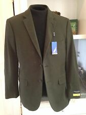 NWT $275 NAUTICA Green Admiral's Lounger 2 Button Cotton Blazer Sport Coat  44 L