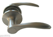 Passage Brushed Nickel Door Knob Lever Handle Hall Way Closet Lock Lockset Satin
