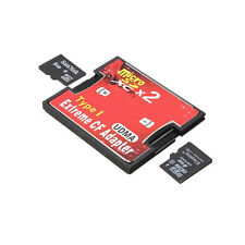 2 Ports Micro SD TF SDHC Pour Type I 1 Compact Flash Card CF Lecteur Adaptateur