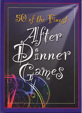 50 of the Finest After Dinner Games (Party Games Books),  NEW HARDBACK  H4