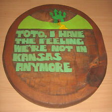 Vintage Wizard Of Oz Wood Wall Plaque Toto, I Have The Feeling Not In Kansas