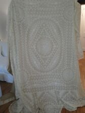 CIRCA 1920,ORNATE FRENCH NORMANDY BEDSPREAD,LARGE DOUBLE SIZE