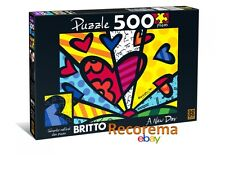 ROMERO BRITTO A NEW DAY  PUZZLE JIGSAW  500 PIECES  ** NEW ** SEALED **