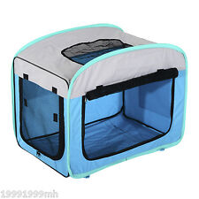 PawHut Portable Dog Crate Soft Sided Pet Carrier Foldable Training Kennel Cage