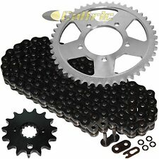 Black O-Ring Drive Chain & Sprockets Kit Fits SUZUKI GSX600F Katana 600F 1998-06