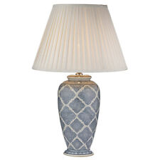 Dar Lighting Ely Table Lamp Blue/White Base Only - ELY4223