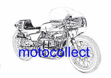 JPN Norton Commando Formula 750 - A3 Poster Print..Can be supplied laminated
