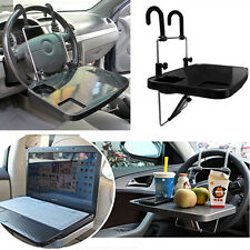 Foldable Car Steering Wheel Back Seat Tray Table Desk Mount Laptops Drink Holder