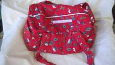 NWT NAVA DESIGN LIMITED baby STROLLER DIAPER PADDED X LARGE RED SHOPPING BAG