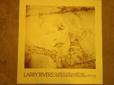 AFFICHE ORIGINALE exposition LARRY RIVERS galerie roger d'amecourt .  AF20
