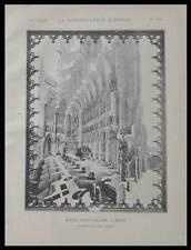 REIMS, EGLISE SAINTE NICAISE - 1894- PLANCHE ARCHITECTURE - LEPAGE