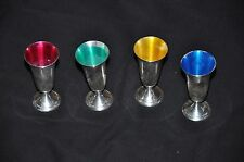 VTG Alvin Sterling Silver Cordial Dessert Glasses Cups Set of 4 Four Colored