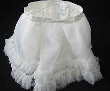 Janie Jack Tulle Ballet Skirt Beautifully Adorned Cream Ivory Gold Sparkle 18 mo