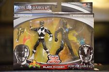 BLACK RANGER Power Rangers 2016 2017 Movie 2 PACK  Then and now