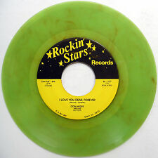 DON HAGER 45 I Love You Dear Forever VG++ Country GREEN VINYL Bopper w3842