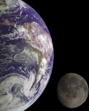 New 8x10 Space Photo: The Earth and Moon from Galileo Spacecraft, 1992