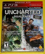 PlayStation 3 PS3 Video Game Set - Uncharted Dual Pack (New) Uncharted 1 & 2