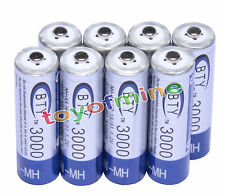 6x AA 2A 1.2 V Ni-MH 3000mAh Rechargeable Battery BTY Cell for Remote Clock