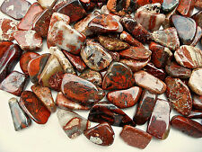 10 x  POPPY JASPER 20mm - 26mm CRYSTAL TUMBLESTONES POLISHED STONES