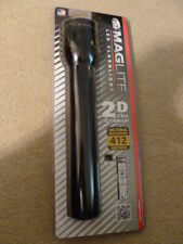 Maglite Led Flashlight Torch 2D 412 Meters  Brand New R.R.P. £49  black