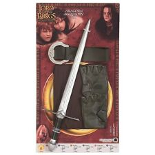 Aragorn Costume Accessory Kit Lord of the Rings Kids Sword Cloak Belt & Gloves