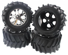 "Traxxas Stampede 4x4 XL-5 4 * 4 MAXX 2.8"" TIRES & ALL STAR CHROME WHEELS * 12mm"