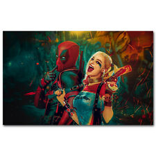 Deadpool and Harley Quinn - Superheroes Art Silk Poster 24x36 inch