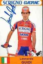 LEONARDO GUIDI Team SCRIGNO GAERNE 97 Signed Autografo cycling Signé cyclisme