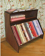 1:12 DIY dollhouse Miniature Walnut Quilt Shop Furniture kit /  FS202